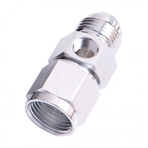 Aeroflow Straight Female to Male With 1//8 Inch Port 16AN Silver AF140-16S