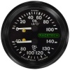 Racetech Dual Mechanical Oil Pressure/Oil Temperature Gauge