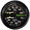 Racetech Dual Mechanical Oil Pressure/Water Temperature Gauge