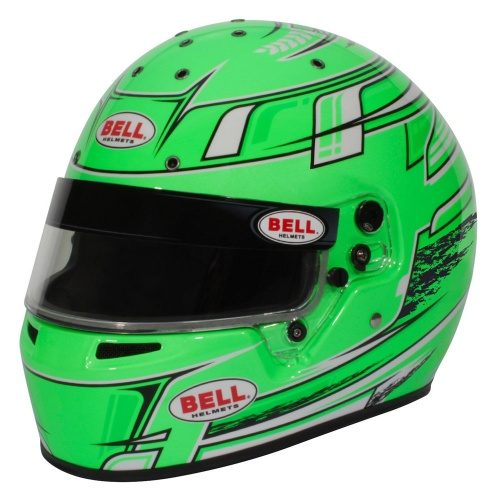 Bell KC7-CMR Champion Green Kart Helmet