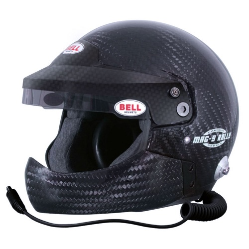 Bell Mag 9 Carbon Rally Half Chin Bar Helmet