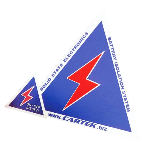 Cartek External Safety Stickers