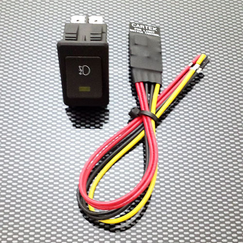 Cartek Fog Light Switch with Square Switch