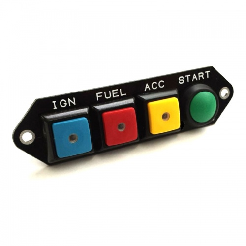 Cartek PDM Switch Panel 4W Coloured Specific/Push Start