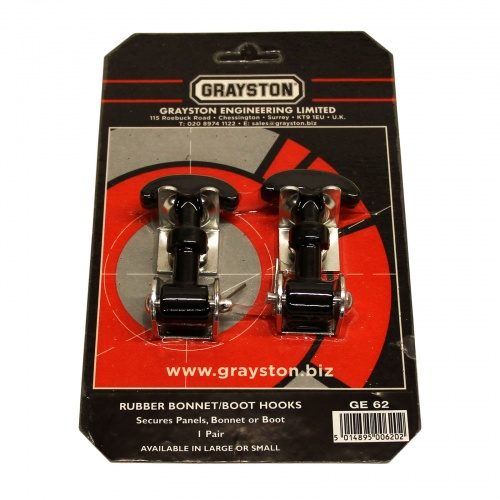 Grayston Small Rubber Bonnet Hooks
