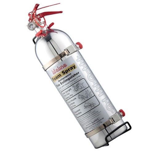Lifeline Polished AFFF Hand Held Fire Extinguisher 2.4 Ltr