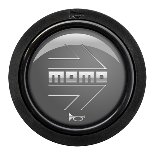 Momo Arrow Gloss Anthracite Standard Horn Push 2 Contact