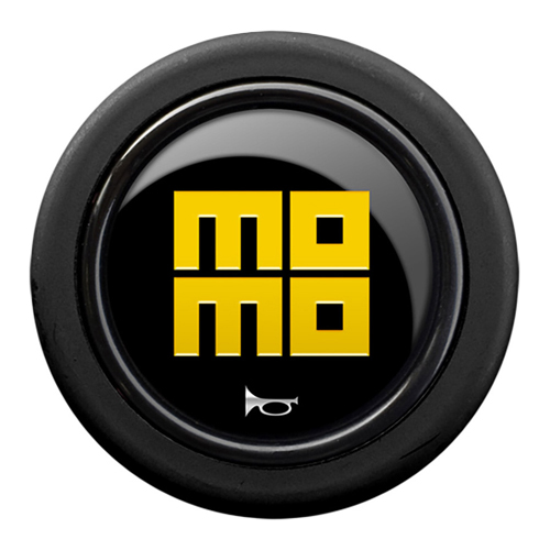 Momo Heritage Gloss Black Standard Horn Push 2 Contact