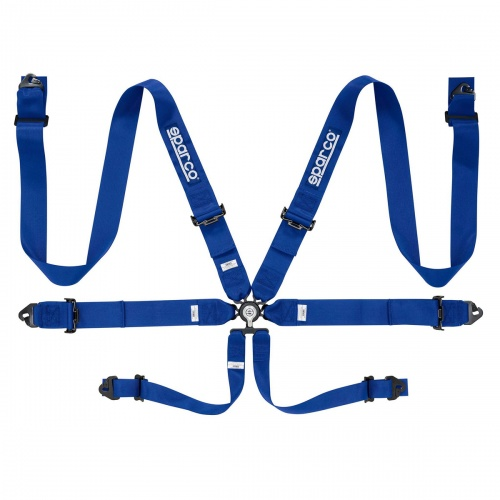 Sparco Club Racer Steel 6 Point Harness