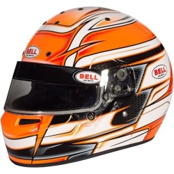 Bell KC7-CMR Venom Orange Kart Helmet