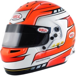 Bell RS7 Pro Falcon Red Helmet
