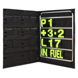 BG Racing Standard Silver Pit Board Kit
