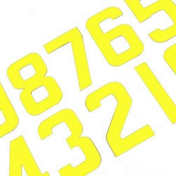 MSAR Individual Fluro Yellow Race Numbers
