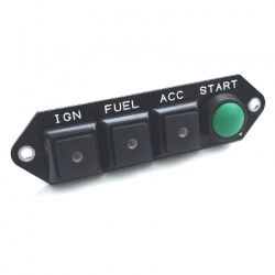 Cartek PDM Switch Panel 4W Black Specific/Push Start