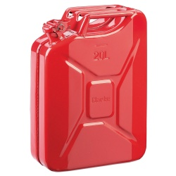 Clarke 20 Litre Steel Jerry Can in Red
