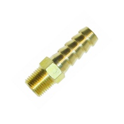 Facet 1/8 NPT to 8mm Straight Brass Union