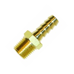 Facet 1/4 NPT to 8mm Straight Brass Union