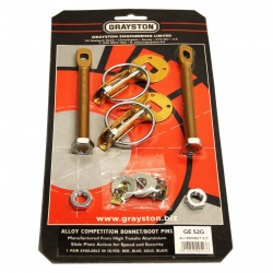 Grayston Gold Aluminium Bonnet Pin Kit