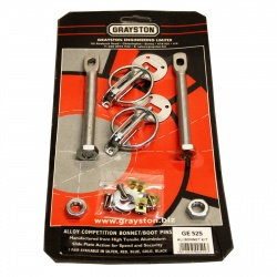 Grayston Silver Aluminium Bonnet Pin Kit