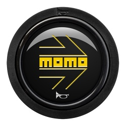 Momo Arrow Gloss Black Standard Horn Push 2 Contact