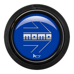 Momo Arrow Gloss Blue Horn Push 2 Contact