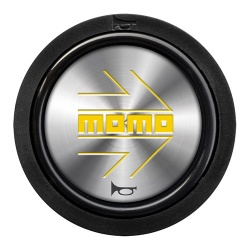 Momo Arrow Chrome Yellow Horn Push 2 Contact