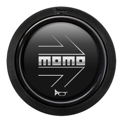Momo Arrow Matt Black Horn Push 2 Contact