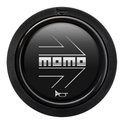 Momo Arrow Gloss Matt Black Standard Horn Push 2 Contact