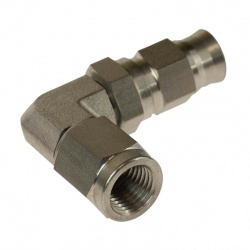 Motamec M10x1 Concave Stainless 90 Deg Female Fitting