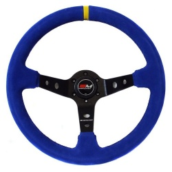Motamec Rally Blue Steering Wheel