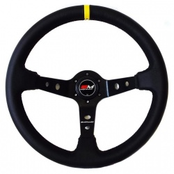Motamec Rally Leather Black Steering Wheel