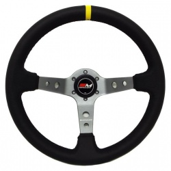 Motamec Rally Leather Titanium Steering Wheel