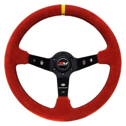 Motamec Rally Red Steering Wheel
