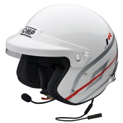 OMP J-R Hans Intercom Helmet White