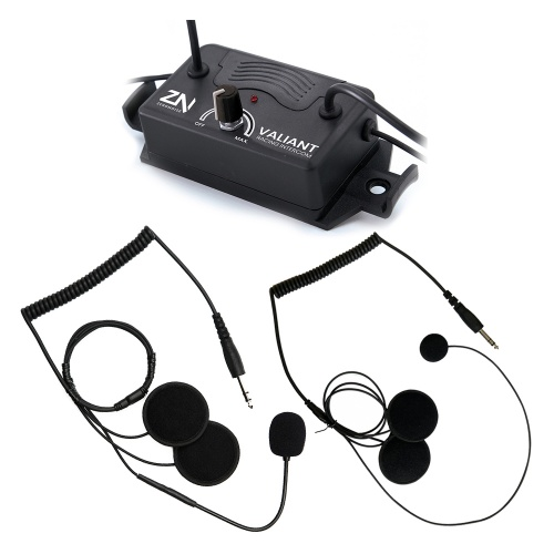 ZeroNoise Valiant Intercom with Open/Full Face Headsets